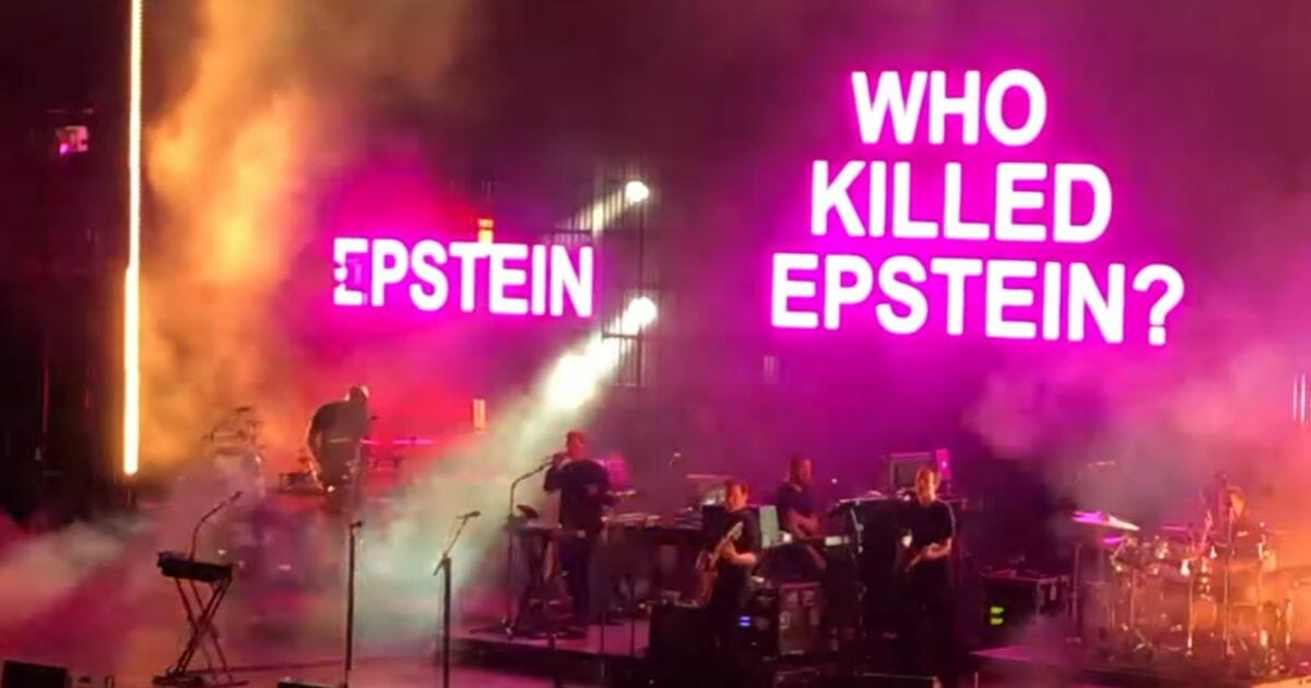 Band Flashes Massive 'Who Killed Epstein' Graphic at Sold Out Show