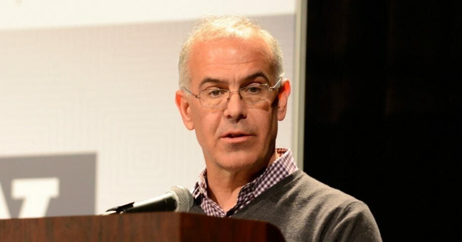 "David Brooks, an op-ed columnist for The New York Times, speaks onstage during ""The Road To Character"" during the 2015 SXSW Music, Film + Interactive Festival at the Austin Convention Center on March 13, 2015, in Austin, Texas."