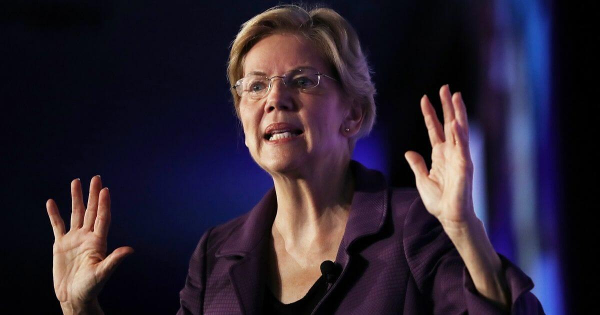 Democratic presidential candidate Sen. Elizabeth Warren speaks at the SEIU Unions for All Summit on Oct. 4, 2019, in Los Angeles, California.
