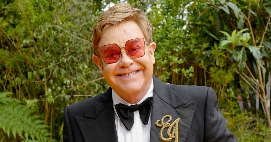 "Sir Elton John attends the European Premiere of Disney's ""The Lion King"" at Odeon Luxe Leicester Square on July 14, 2019, in London, England."