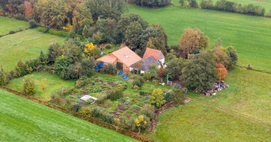 A farmhouse in a remote area of northern Netherlands' province of Drenthe, near the village of Ruinerwold, where Dutch police discovered a hidden staircase behind a cupboard leading to a cellar where a man and five others were hidden.