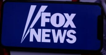 Smart phone with the Fox News logo.