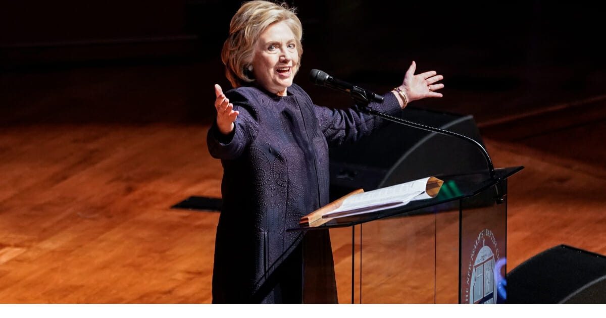 Former Secretary of State Hillary Clinton speaks during funeral services for late Rep. Elijah Cummings (D-Maryland) at the New Psalmist Baptist Church on Oct. 25, 2019, in Baltimore, Maryland.