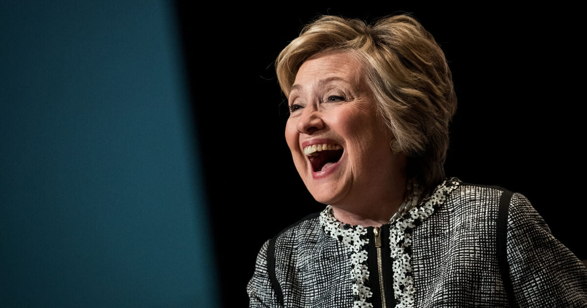 Former Secretary of State and failed 2016 presidential candidate Hillary Clinton laughs while speaking during BookExpo 2017 at the Jacob K. Javits Convention Center on June 1, 2017, in New York City.