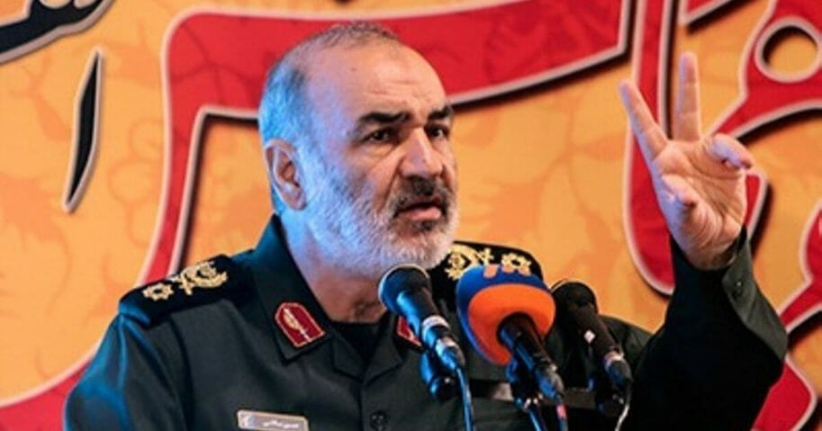 Sardar Hossein Salami, deputy commander of the Iranian Revolutionary Guards.