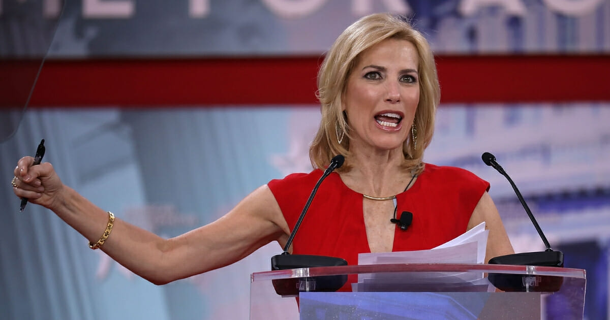 Fox News host Laura Ingraham addresses the Conservative Political Action Conference at the Gaylord National Resort and Convention Center on Feb. 23, 2018, in National Harbor, Maryland.