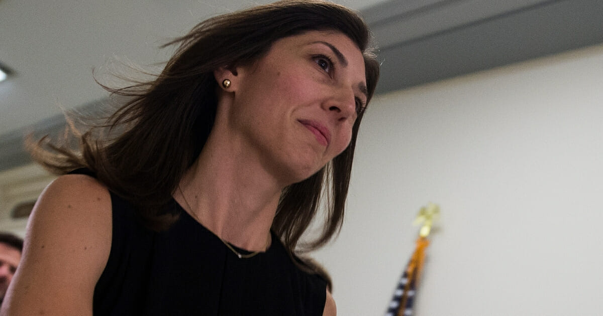Lisa Page arrives on Capitol Hill on July 13, 2018.