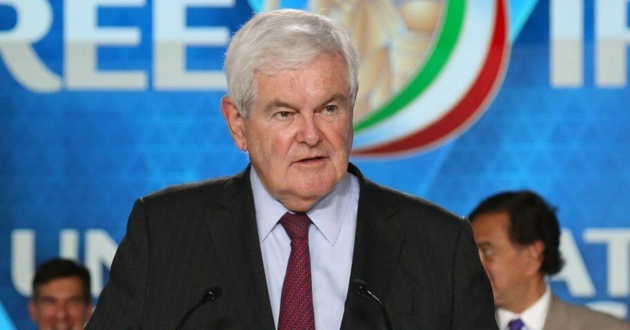 Former Speaker of the House Newt Gingrich on June 30, 2018, in Villepinte, France.