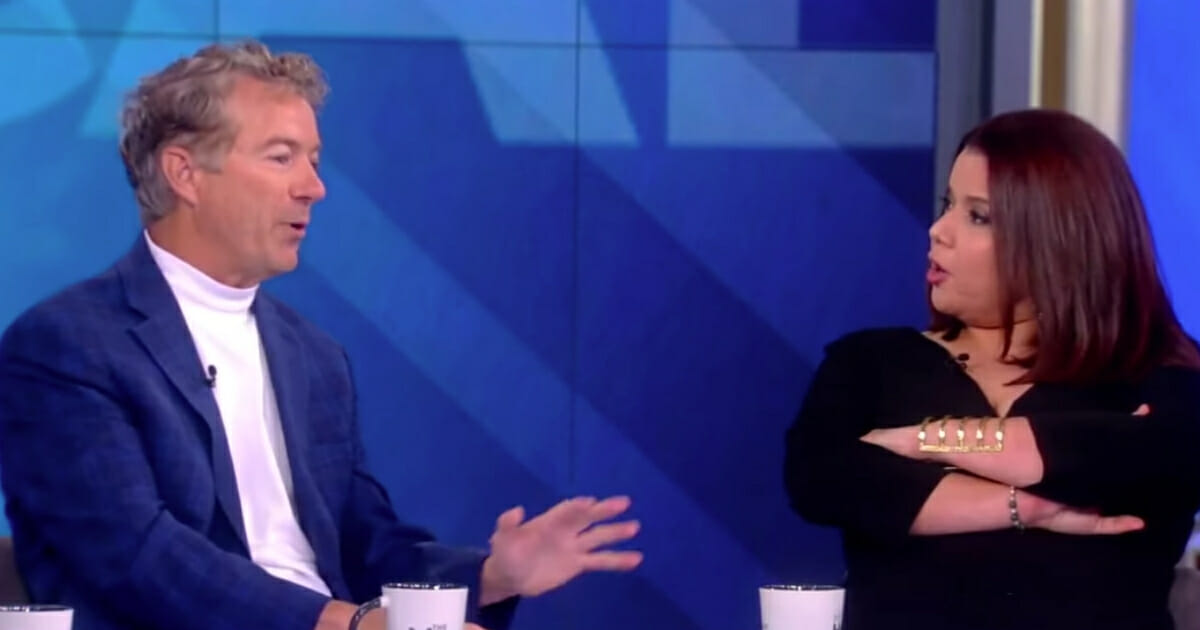 """While promoting his new book """"The Case Against Socialism"""" Friday on """"The View,"""" Sen. Rand Paul was chastised and told not to """"mansplain."""""""