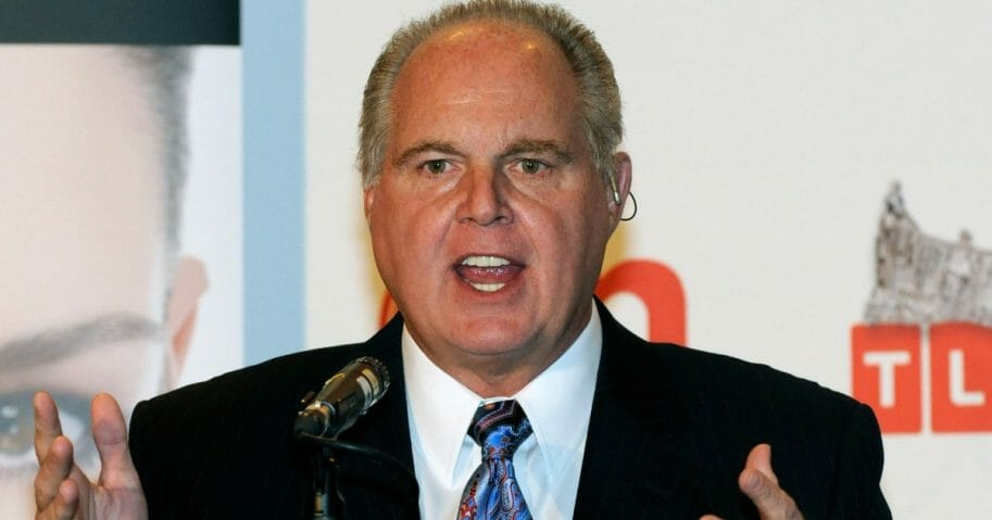 Radio talk show host and conservative commentator Rush Limbaugh, one of the judges for the 2010 Miss America Pageant, speaks during a news conference for judges at the Planet Hollywood Resort & Casino on Jan. 27, 2010, in Las Vegas, Nevada.