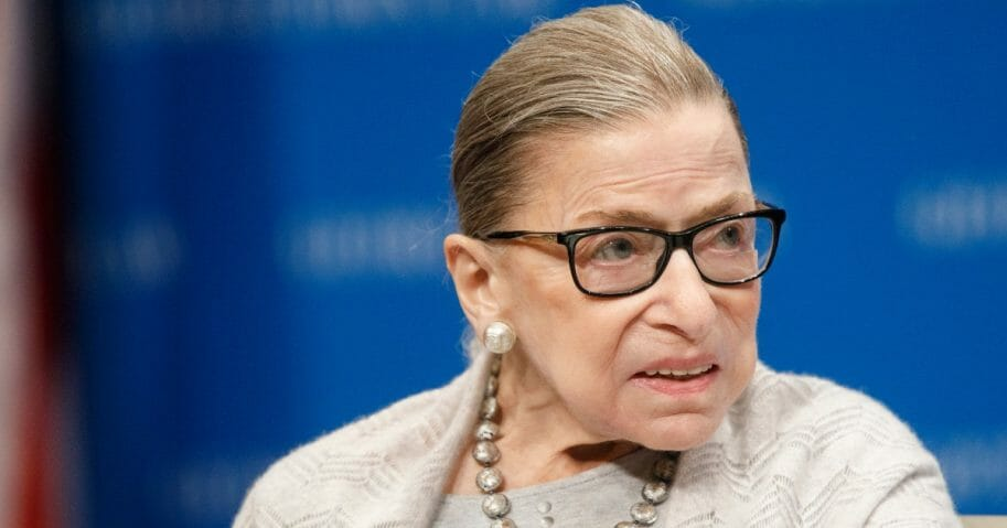 Supreme Court Justice Ruth Bader Ginsburg delivers remarks at the Georgetown Law Center on Sept. 12, 2019, in Washington, D.C.