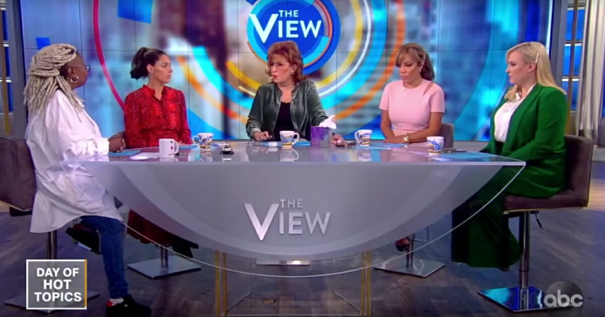 "The co-hosts of ABC's ""The View"" discuss President Donald Trump."
