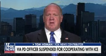 "Tom Homan, former acting director of Immigration and Customs Enforcement, appears Wednesday on ""Fox & Friends."""