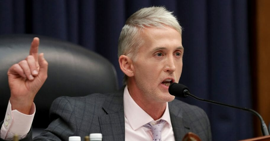 Trey Gowdy seen while questioning Peter Strzok.