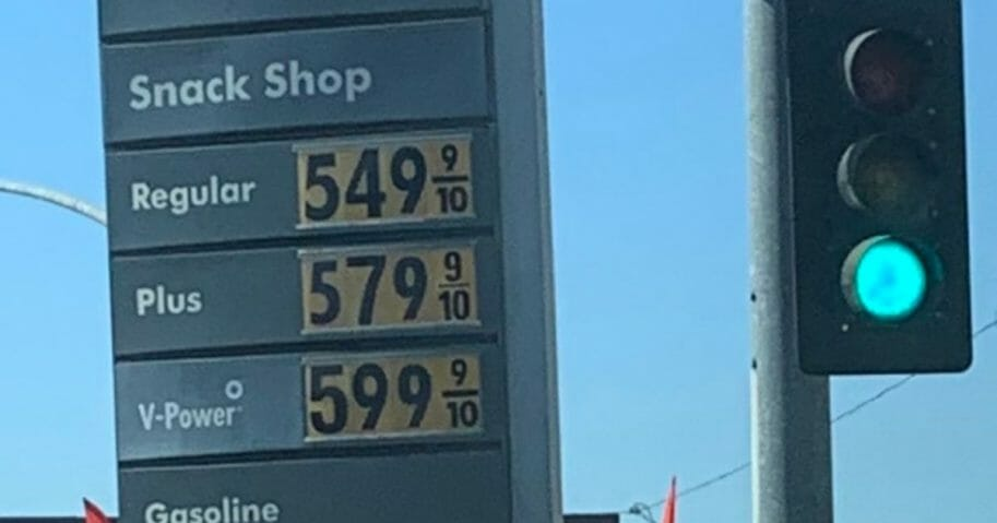 Gas prices in California, surging in the midst of a major blackout.