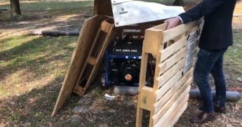 A gasoline generator found at a climate change protest.