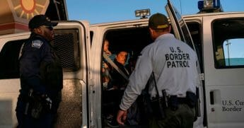Illegal immigrants are loaded into a van by Customs and Border Protection agents in May in El Paso, Texas. The number of illegal immigrants arrested in 2019 hit its highest point in 12 years, according to the Washington Examiner.