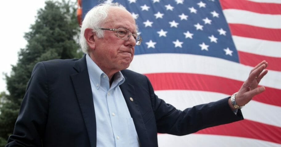 Vermont Sen. Bernie Sanders is pictured in a September file photo from Des Moines, Iowa.