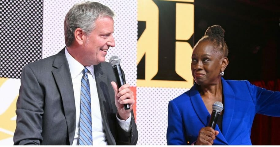 New York City Mayor Bill De Blasio and his wife, Chirlane McCray.