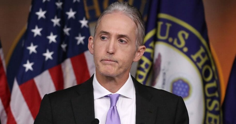 Then-Republican Rep. Trey Gowdy participates in a June 28, 2016, news conference about the hearings investigating the 2012 terrorist attack on an American diplomatic outpost in Benghazi, Libya.
