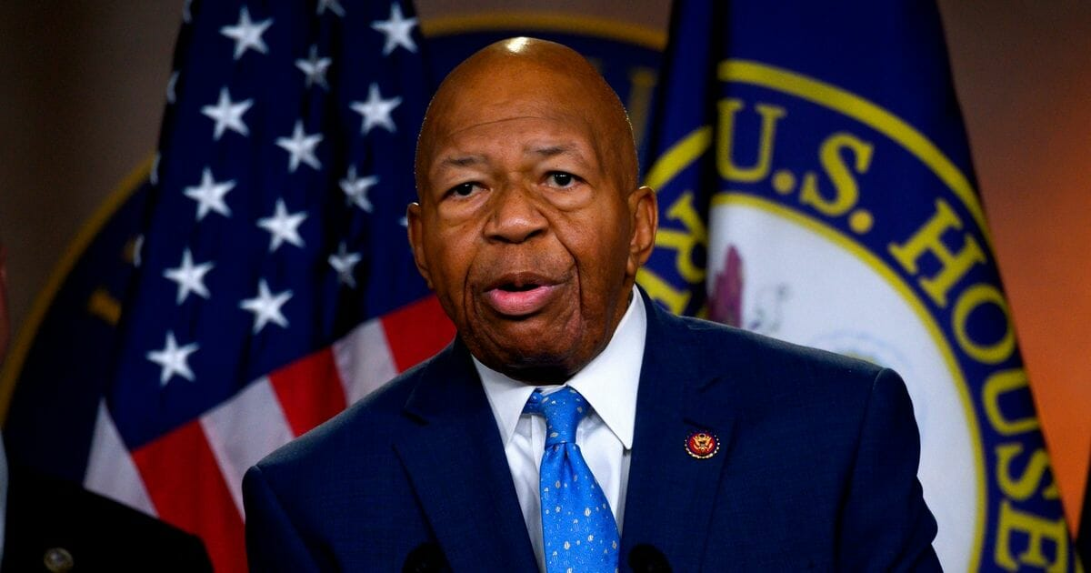The late Rep. Elijah Cummings, D-Md., is pictured at a July news conference.