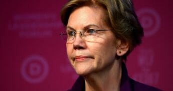 "Massachusetts Sen. Elizabeth Warren addresses a ""Women's Leadership Forum"" on Thursday in Washington."