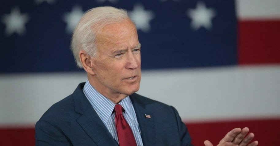 Former Vice President Joe Biden speaking at an Oct. 16 campaign event in Iowa.