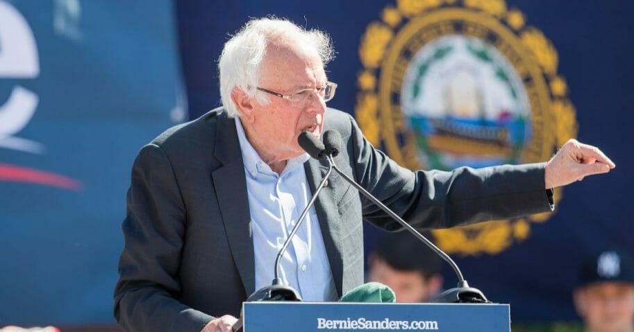 Democratic presidential candidate, Sen. Bernie Sanders speaks during his event at Plymouth State University on Sept. 29, 2019 in Plymouth, New Hampshire.