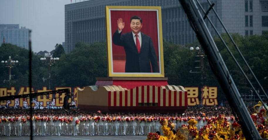 A giant portrait of Chinese President Xi Jinping is carried atop a float at a parade to celebrate the 70th Anniversary of the founding of the People's Republic of China in 1949 , at Tiananmen Square on Oct. 1, 2019 in Beijing, China.