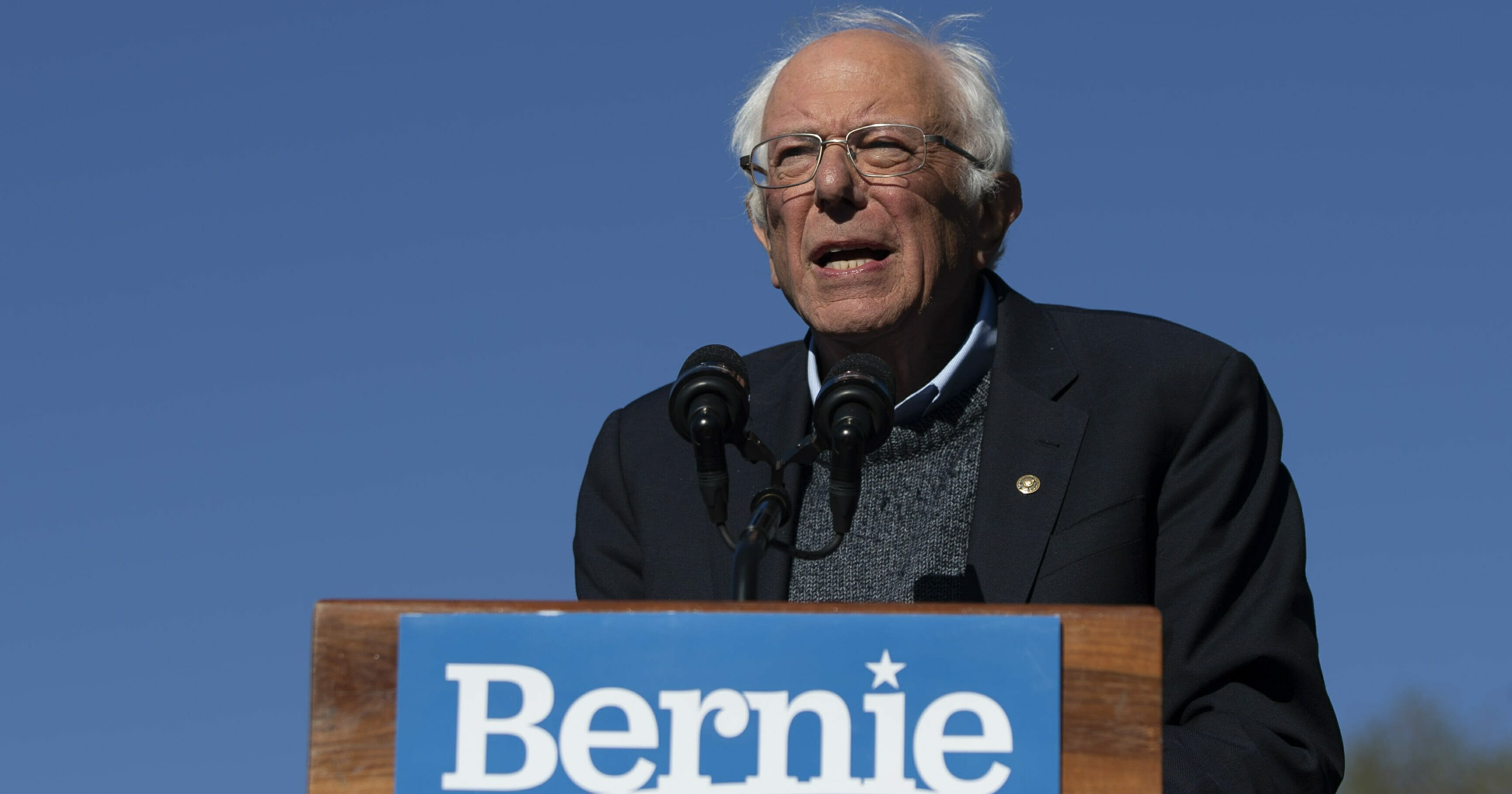 Democratic presidential candidate Sen. Bernie Sanders, I-Vt., speaks to supporters during a rally Saturday, Oct. 19, 2019, in New York.