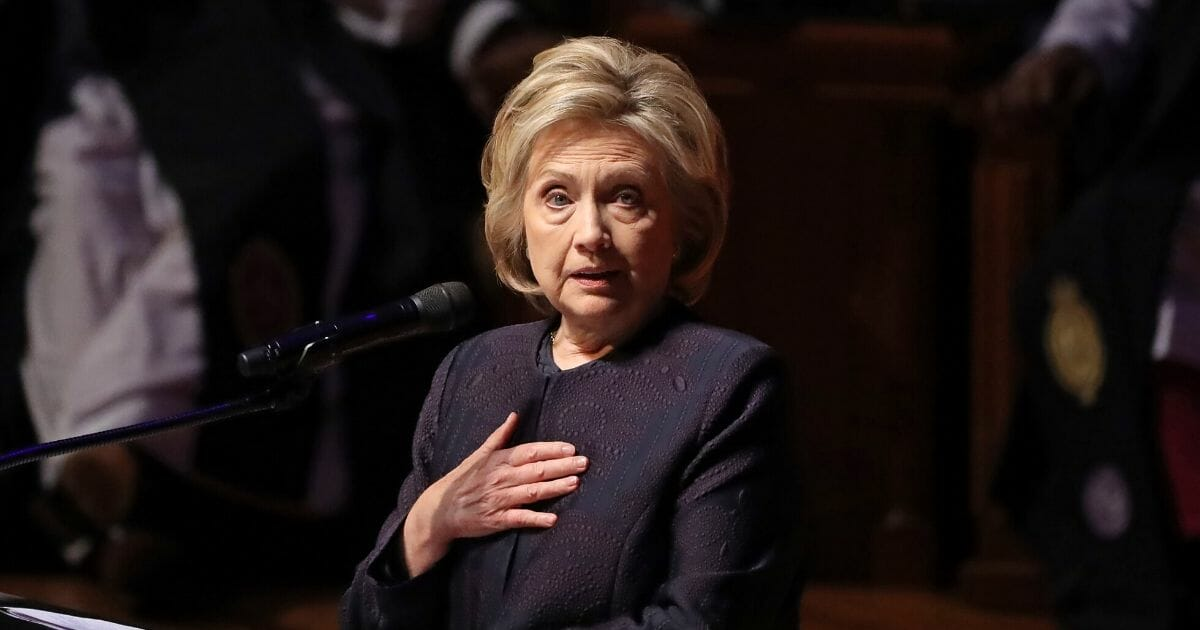 Former first lady and Secretary of State Hillary Clinton