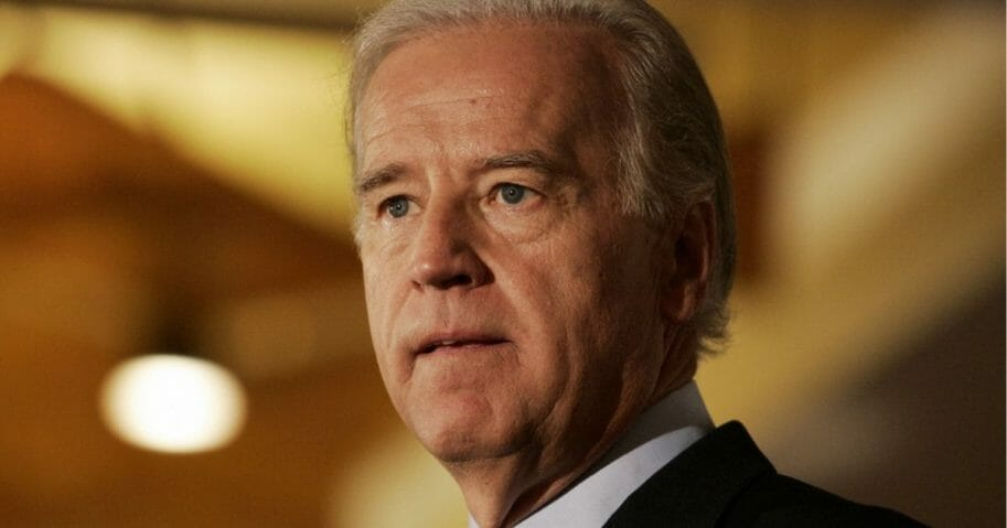 Democratic presidential hopeful U.S. Senator Joseph Biden speaks during the 2007 American Association for Justice Annual Convention in Chicago 15 July 2007.
