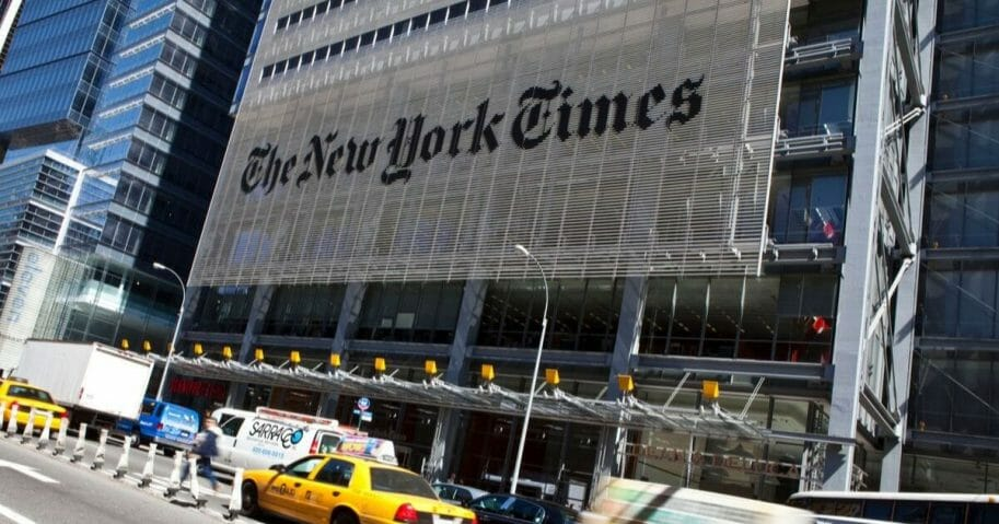 New York Times headquarters in New York City.