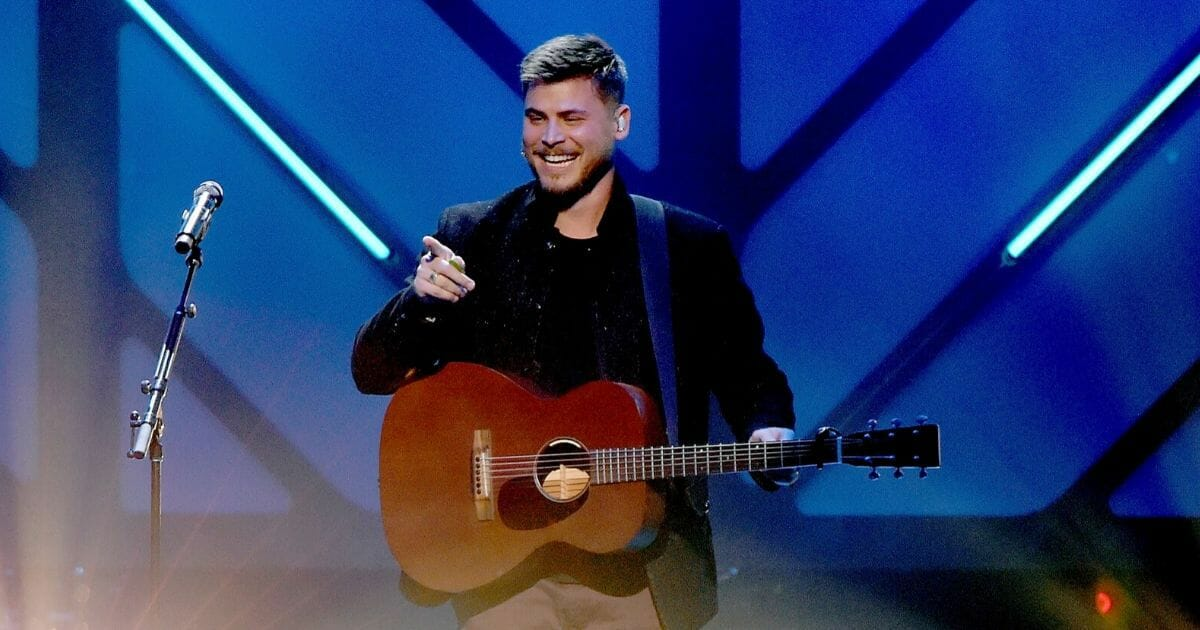 Cory Asbury performs onstage at the 49th Annual GMA Dove Awards at Lipscomb University's Allen Arena in Nashville, Tennessee, on Oct. 16, 2018.