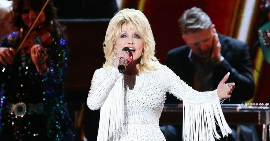 Dolly Parton performs onstage during the 53rd annual CMA Awards at the Bridgestone Arena on Nov. 13, 2019, in Nashville, Tennessee.