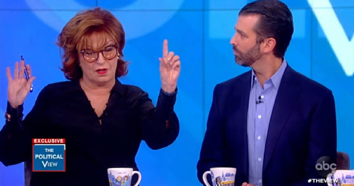 """""""The View"""" co-host Joy Behar takes issue with Donald Trump Jr. during a segment of the show on Thursday."""
