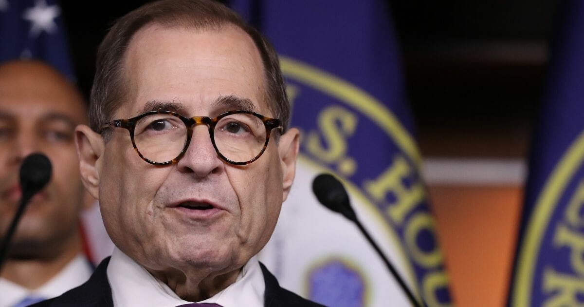 House Judiciary Committee Chairman Rep. Jerrold Nadler (D-New York) speaks during a news conference following the passage of a resolution formalizing the impeachment inquiry centered on President Donald Trump on Oct. 31, 2019, in Washington, D.C.