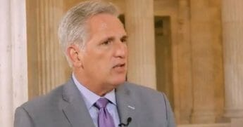 House Minority Leader Kevin McCarthy in a Thursday interview.