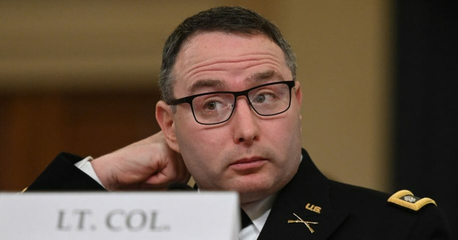 National Security Council official Lt. Col Alexander Vindman testifies before the House Intelligence Committee.
