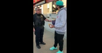 How far would you be willing to go to reduce litter on public transportation? In the state of California, law enforcement is willing to handcuff a man for the crime of eating a sandwich.