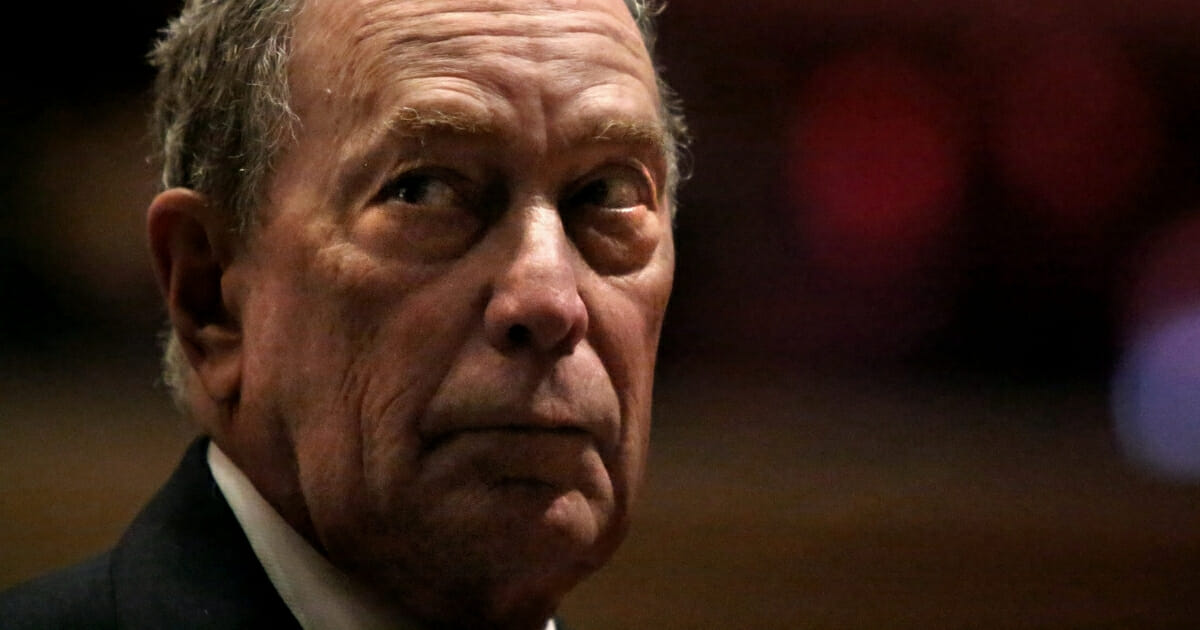 Former New York Mayor Michael Bloomberg prepares to speak at the Christian Cultural Center in Brooklyn on Nov. 17, 2019.