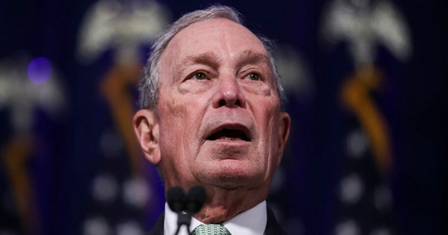 Former New York Mayor Michael Bloomberg speaks during a news conference to discuss his newly announced presidential run Nov. 25, 2019, in Norfolk, Virginia.
