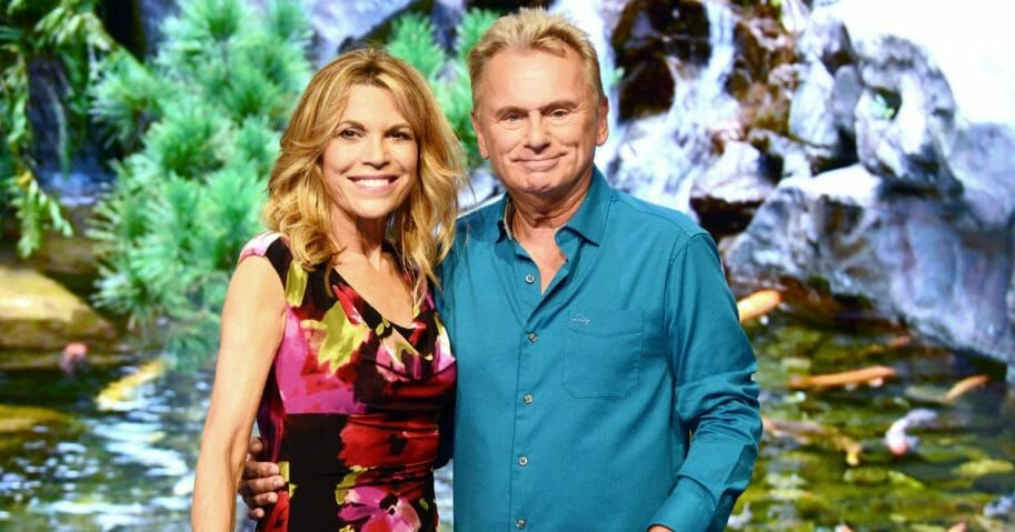 """""""Wheel of Fortune"""" hosts Vanna White, left, and Pat Sajak attend a taping at Walt Disney World on Oct. 10, 2017, in Orlando, Florida."""