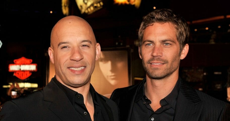 Actors Vin Diesel, left, and Paul Walker on March 12, 2009, in Universal City, California.