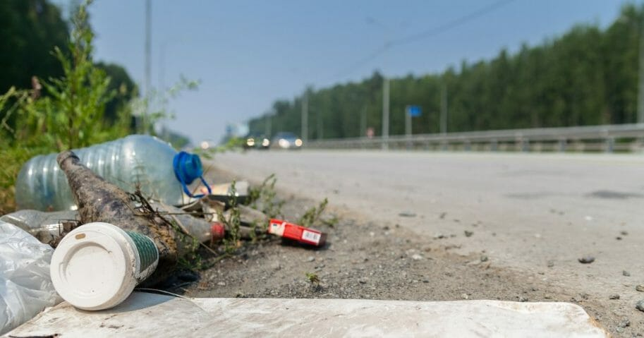 A national 'gun safety' group is stepping up this week to ensure the annual quota for foolish, ineffective anti-gun stunts is met. A image above is a stock photo of trash on the side of the road.