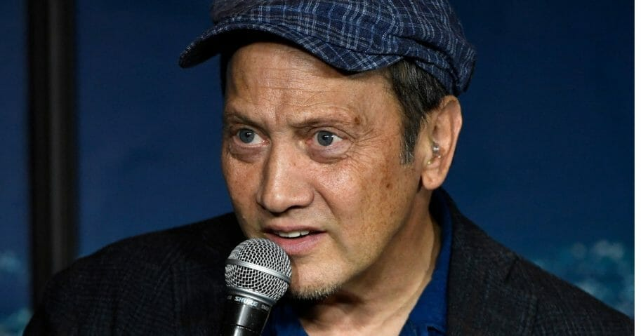Comedian Rob Schneider performs at the Ice House Comedy Club in Pasadena, California, on Oct. 24, 2019.