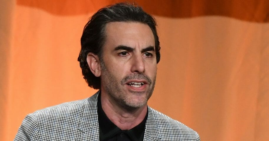 Actor Sacha Baron Cohen speaks on stage during the Hollywood Foreign Press Association's annual Grants Banquet at The Beverly Wilshire in Beverly Hills, California, on July 31, 2019.