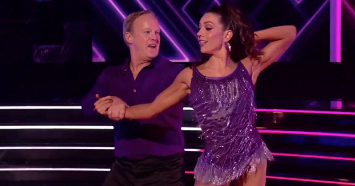 """Former White House press secretary Sean Spicer performs on ABC's """"Dancing with the Stars."""""""