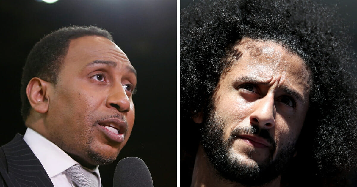ESPN personality Stephen A. Smith, left, says he thinks there's a decent chance that free agent quarterback Colin Kaepernick, right, is signed by an NFL team in the very near future.