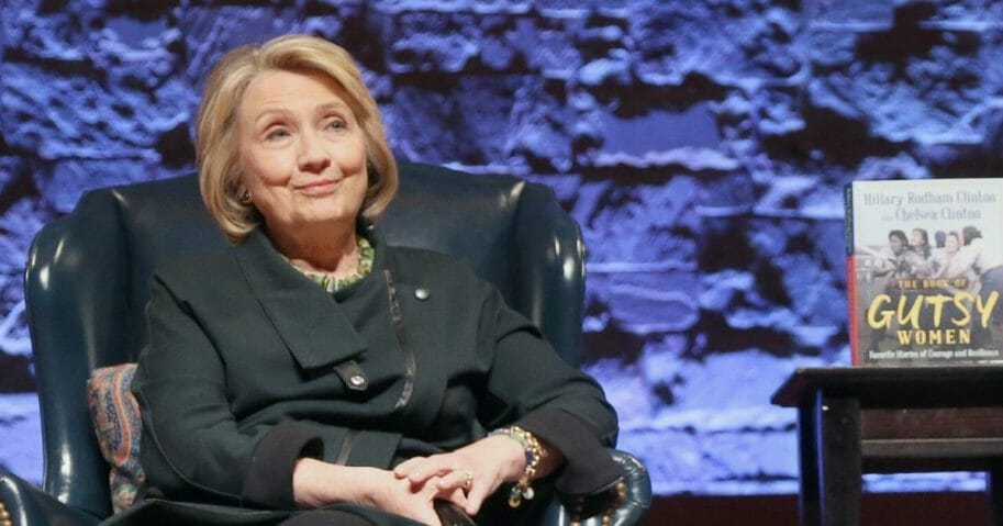 Former Democratic presidential candidate Hillary Clinton attends book promotion tour stop Nov. 3 in Austin, Texas.